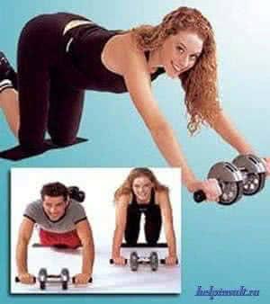 Упражнения на гимнастическом ролике для укрепления мышц